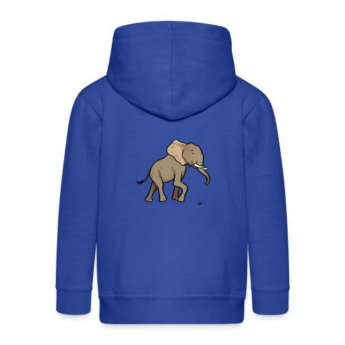 Elefante africano - Chaqueta con capucha premium niño