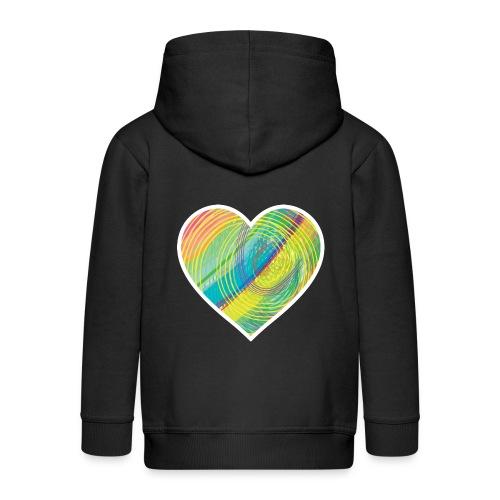 Spread the Love - Kids' Premium Zip Hoodie