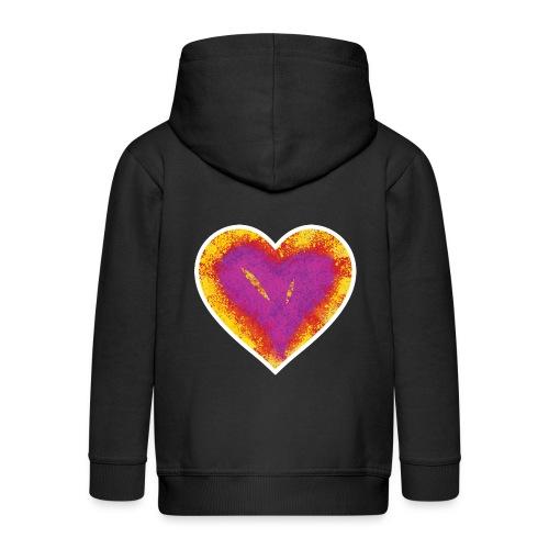 Stitched Heart - Kids' Premium Zip Hoodie