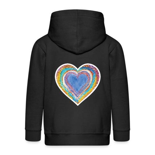Heart Vibes - Kids' Premium Zip Hoodie