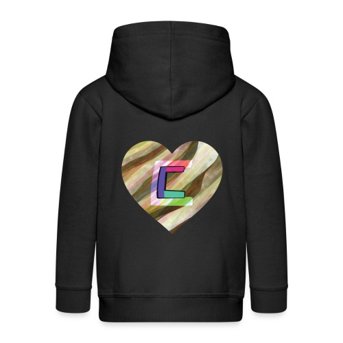 Chris could be crossed by colorful continous C's - Kids' Premium Zip Hoodie