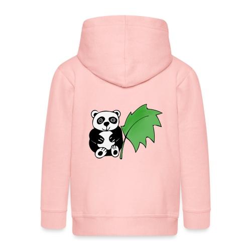 Panda - Felpa con zip Premium per bambini