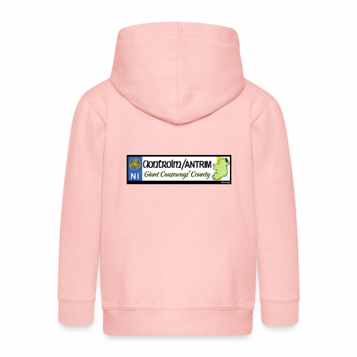 CO. ANTRIM, NORTHERN IRELAND licence plate tags - Kids' Premium Zip Hoodie