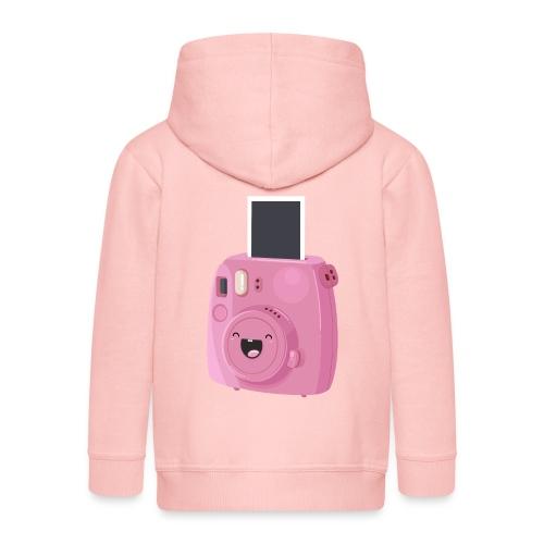 Appareil photo instantané rose - Veste à capuche Premium Enfant