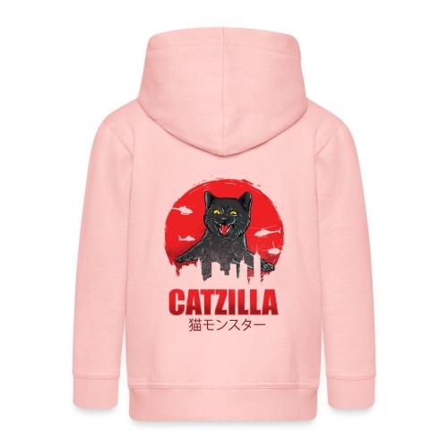 Catzilla Katzen Horror B-Movie Parodie - Kinder Premium Kapuzenjacke