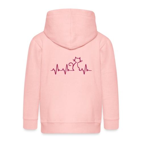 Vorschau: Cat Heartbeat - Kinder Premium Kapuzenjacke