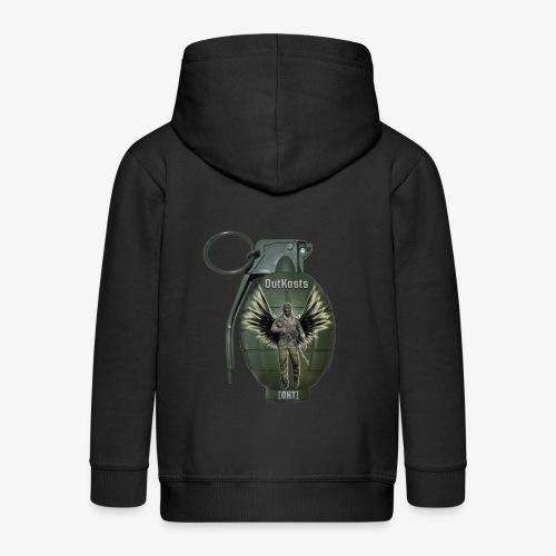 grenadearma3 png - Kids' Premium Hooded Jacket