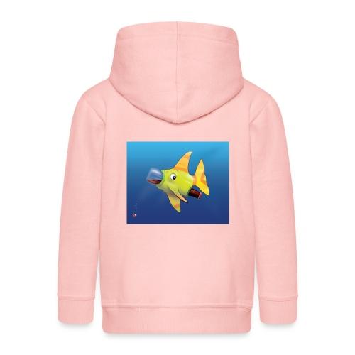 Greedy Fish - Veste à capuche Premium Enfant