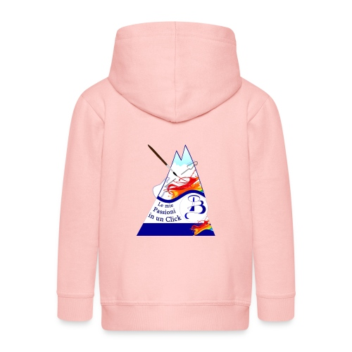 Logo colori - Felpa con zip Premium per bambini