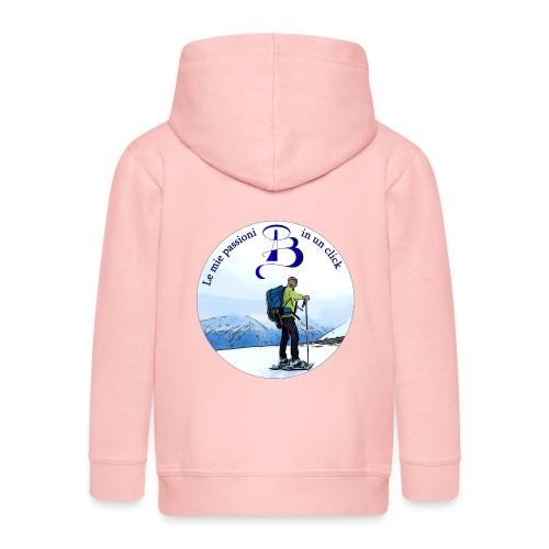 Logo cartone ciaspole - Felpa con zip Premium per bambini