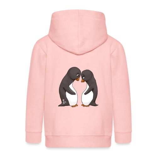 Twee verliefde pinguïns - Kids' Premium Zip Hoodie