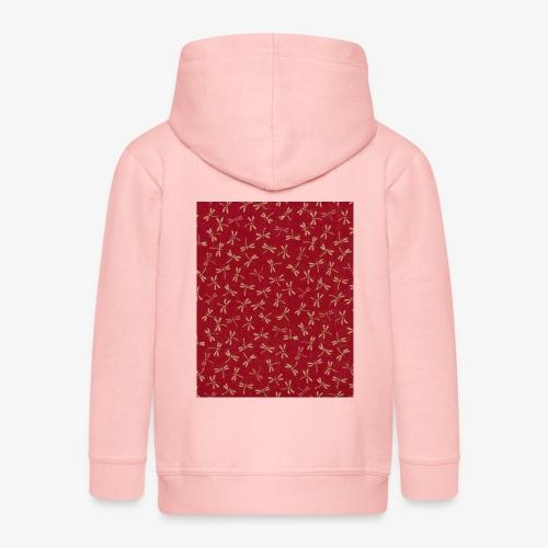 Motif dragon sur fond rouge - Veste à capuche Premium Enfant