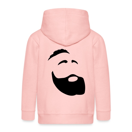 Il Barba, the Beard black - Felpa con zip Premium per bambini