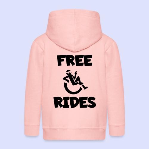 Ik geef gratis rijden met mijn rolstoel - Kinderen Premium jas met capuchon