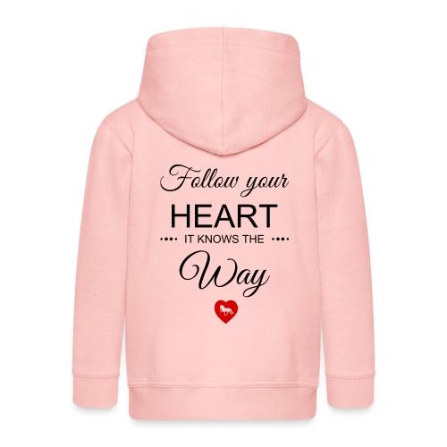 follow your heartbesser - Kinder Premium Kapuzenjacke