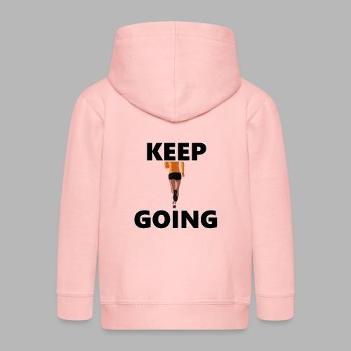 Keep going - Kinder Premium Kapuzenjacke