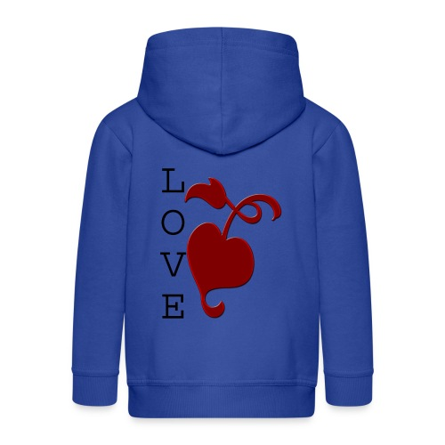 Love Grows - Kids' Premium Zip Hoodie