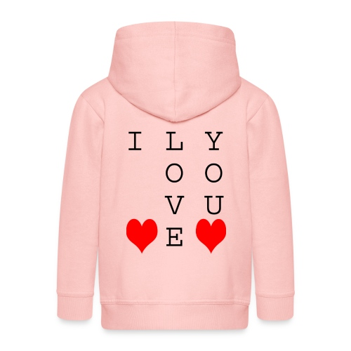 I Love You - Kids' Premium Zip Hoodie