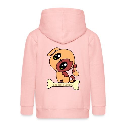Kawaii le chien mignon - Veste à capuche Premium Enfant