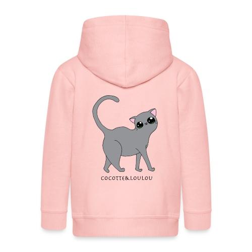 Bibi chat gris - Veste à capuche Premium Enfant