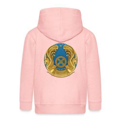 Kasachstan Казахстан Герб Wappen T-Shirts 2c - Kinder Premium Kapuzenjacke