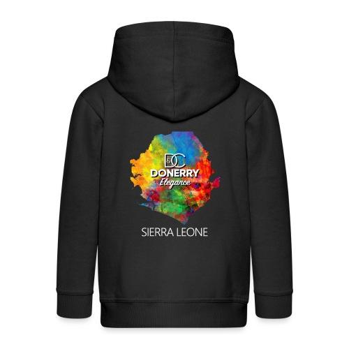 Sierra Leone Colourful Map Dark - Kids' Premium Hooded Jacket