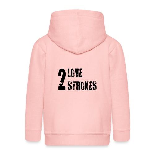 Love 2 Strokes - Felpa con zip Premium per bambini