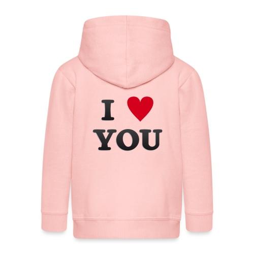 I love you - Premium Barne-hettejakke