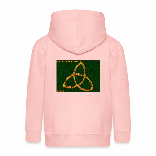 Trinity Knot design - Kids' Premium Zip Hoodie