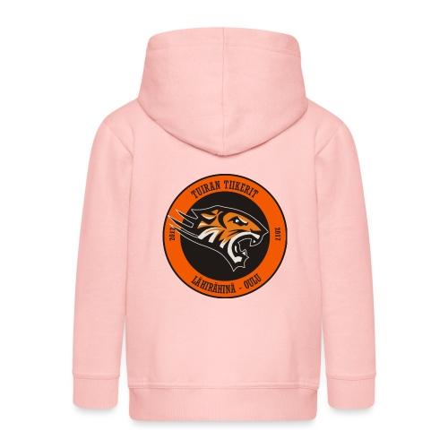 Tuiran Tiikerit, värikäs logo - Lasten premium hupparitakki