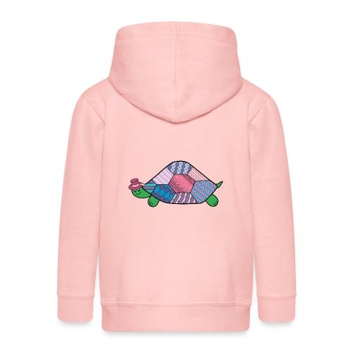 purple tortoise - Kids' Premium Zip Hoodie