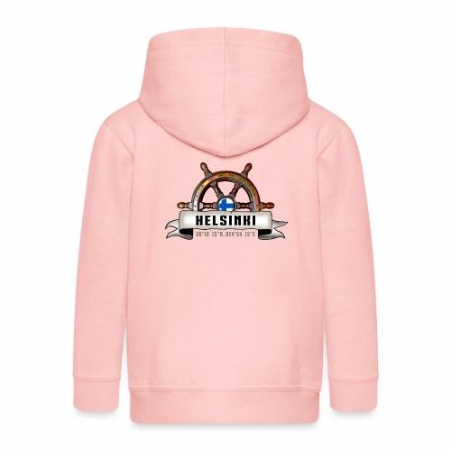Helsinki Ruori - Merelliset tekstiilit ja lahjat - Lasten premium hupparitakki