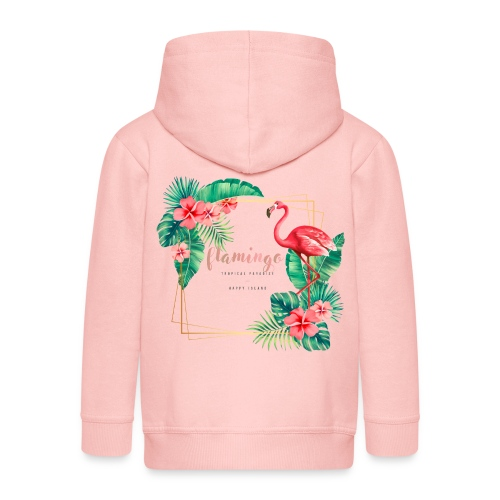 flamingo3 - Rozpinana bluza dziecięca z kapturem Premium