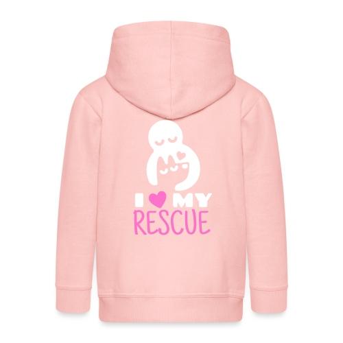 I love my rescue - Lasten premium hupparitakki