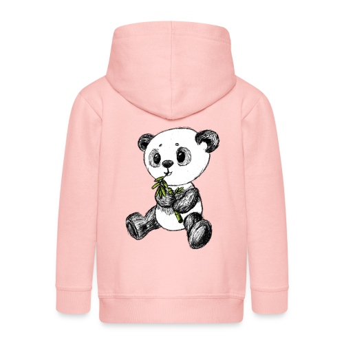 Panda Bär farbig scribblesirii - Kinder Premium Kapuzenjacke