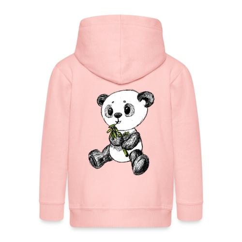 Panda Karhu värillinen scribblesirii - Lasten premium hupparitakki