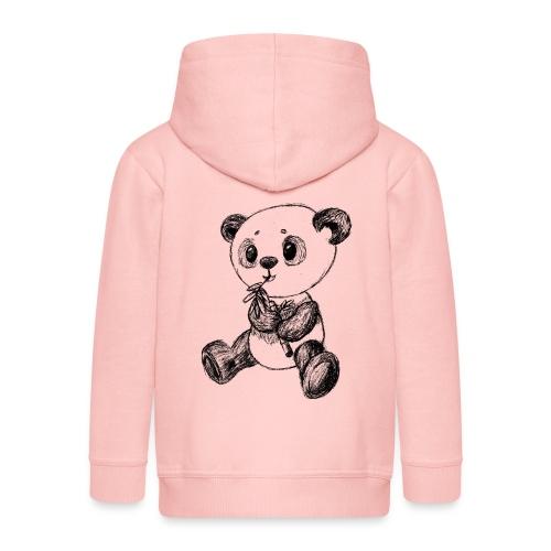 Panda Bär schwarz scribblesirii - Kinder Premium Kapuzenjacke