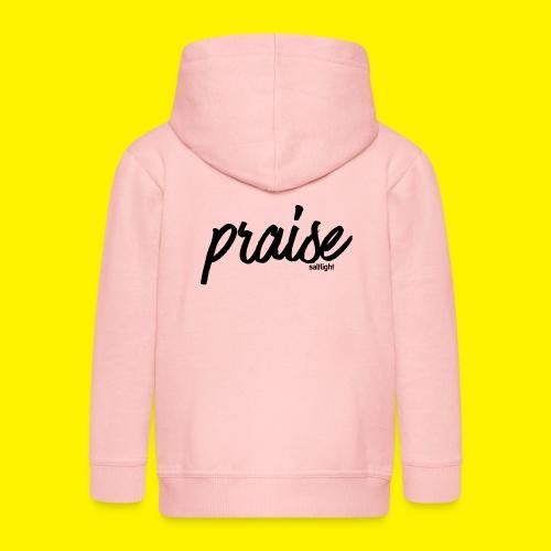 Praise (BLACK) - Kids' Premium Zip Hoodie