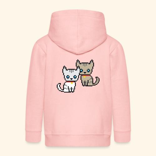 deux chats pixel - Veste à capuche Premium Enfant