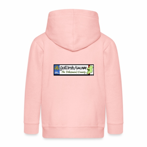 CO. GALWAY, IRELAND: licence plate tag style decal - Kids' Premium Zip Hoodie