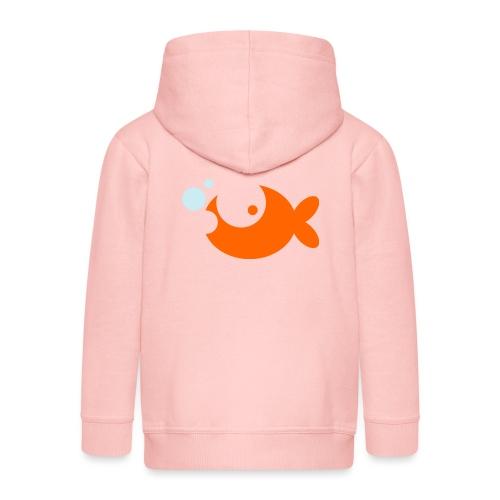 Goldfish Vector - choose design colours - Kids' Premium Hooded Jacket