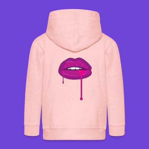 Purple Kiss - Felpa con zip Premium per bambini