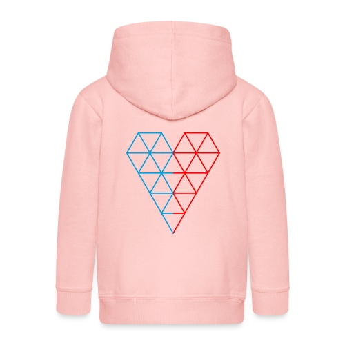 The Heart of Life x 1, Dual Polygon. - Kids' Premium Hooded Jacket