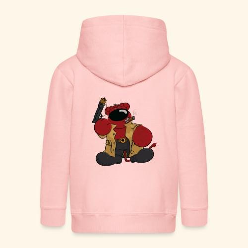 chris bears Der Bär ist ein Superheld - Kinder Premium Kapuzenjacke