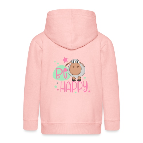 Be happy Schaf - Glückliches Schaf - Glücksschaf - Kinder Premium Kapuzenjacke
