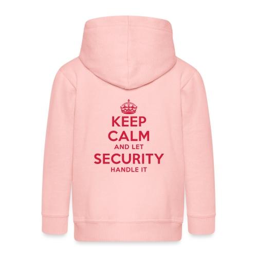 keep calm and let security handle it - Kinder Premium Kapuzenjacke