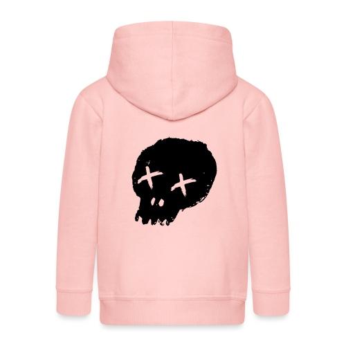 blackskulllogo png - Kids' Premium Hooded Jacket