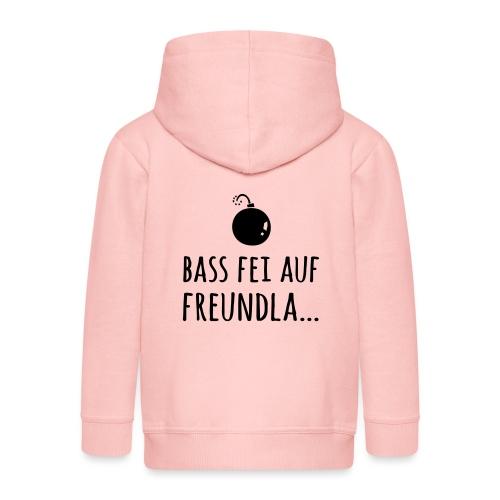 Bass fei auf Freundla - Kinder Premium Kapuzenjacke