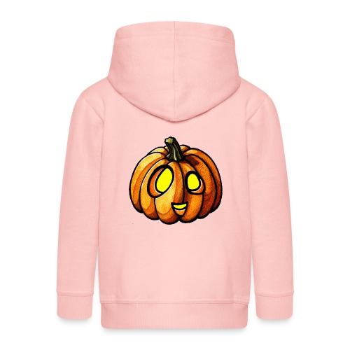 Pumpkin Halloween watercolor scribblesirii - Kinder Premium Kapuzenjacke