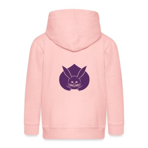 Usagi kamon japanese rabbit purple - Kids' Premium Hooded Jacket